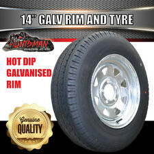 14 x 6 195 LT Sunraysia Ford Wheel Rim & Tyre Galvanised Caravan Trailer Boat