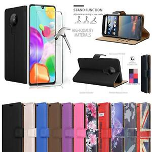 For Nokia 5.4 2.4 3.4 5.3 1.3 7.2 8.3 Leather Wallet Phone Case + Tempered Glass