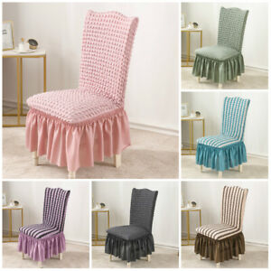 Bubble Lattice Elastic Chair Cover Stretch Seat Protector for Dining Room Office