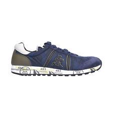 Premiata Lucy 2460 Leather - Fabric Italian Sneakers Blue Camo