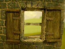 1/35 ECHELLE ~ Fenêtre volet (résine) 6 volet (3 pairs) plus porte en bois