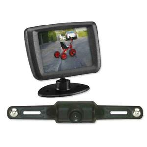 """Vox Back Up Camera 2.5"""" Monitor, ACA240 Wireless Car License Plate Rear View"""