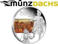 $1 Dollar Famous Battle of Cannae 216 BC 2009 Tuvalu 1 oz fine silver proof