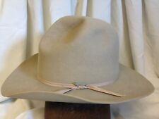 Vintage Stetson Western 3X Beaver Mens Beige Teardrop Fur Felt Cowboy Hat 6  7 8 ae267b2d5072