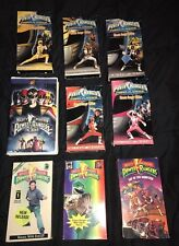 Lot of 9 MIGHTY MORPHIN POWER RANGERS VHS MOVIE Classic Ranger Edition & Green