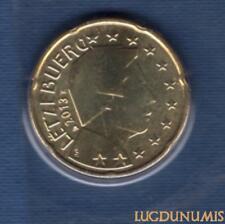 Luxembourg 2013 20 Centimes D'euro BU FDC Pièce Provenant du BU 7500 Exemplaires