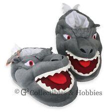 NEW Godzilla Face Plush Glow in the Dark Slippers Toy Vault Kaiju Toho Monster