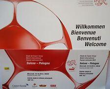 TICKET & Hülle 10.10.2012 Schweiz - Polen Polska
