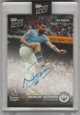 2018 Topps Now Auto #006A SERGIO AGUERO HAT-TRICK HERO MANCHESTER CITY 24/25