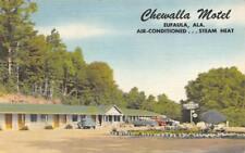 CHEWALLA MOTEL Eufaula, Alabama Roadside ca 1940s Vintage Linen Postcard