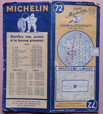 #) B - carte MICHELIN 72 ANGOULEME - LIMOGES 1948