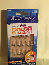 **LOOK** 2 Packs of Broadway Color Changing Short Nails #54362 BCFD01 (Sunshine)
