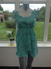 New Dorothy Perkins Ladies Green Shift Summer Mini Dress UK 10 BO23
