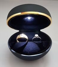 Ring Box with Light .Single Ring Box or 2 Rings Wedding Bands Box.