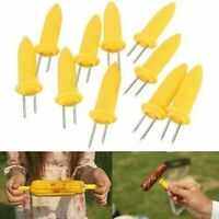 10Pcs/Set Corn On The Cob Holders Skewers Kitchen Forks BBQ Food Hygiene Sticks