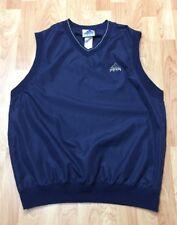 Adidas Golf  Men's Vintage Large (L) Navy Blue Nylon Pullover Vest