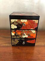 BOX BOITE A BIJOUX JAPON YAMANAKA plastique, décor chrysanthèmes vintage