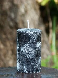 40hr BLACK RASPBERRY & VANILLA Natural Eco Candle TRIPLE SCENTED Crystal Effects