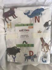 Pottery Barn Kids Organic Eric Carle Sheet Set Twin NWT