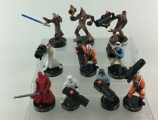 Star Wars Attackix Toy Game Figures 10pc Lot Replacement Hasbro 2005