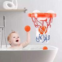 Kleinkind Badespielzeug Kinder Basketballkorb Badewanne Wasser Spielset Bab Z1S5