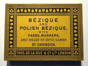 Bezique & Polish Bezique Set with Cards, Markers and Rules 1920's