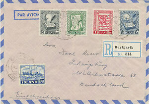 Iceland 1954 Mif Postage Stamps: Old Island-Manuskripte And Sea Fishing R-Bf