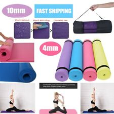4/10MM Yoga Mat Thick Non-slip Durable Exercise Fitness Gym Extra Mats  Pad