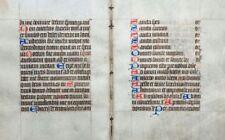 STUNDENBUCH BLATT PERGAMENT FRANKREICH DOPPELBLATT HEILIGE UM 1420