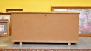 Antique 6 Board Trunk Chest Primitive Blanket Chest
