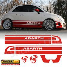 Fasce adesive Fiat 500 Rally R3T Fascia Laterale Alta per Fiat 500 e 500 Abarth