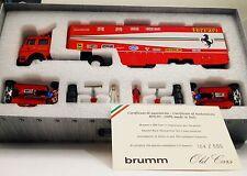 2 FERRARI 126CK MONACO 1981 VILLENEUVE PIRONI & TRANSPORTER SET BRUMM RTS01 1:43