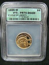 1986-W Statue of Liberty $5 Commemorative Gold - ICG PR 70 DCAM