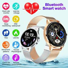 Regalo de Mujer Reloj Inteligente Pulsera de frecuencia cardíaca Impermeable para iPhone Android Samsung