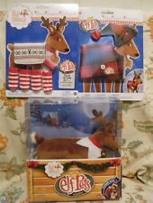 Elf on the Shelf Pets A Reindeer Tradition Book & Reindeer Plush & 2 Outfits NEW