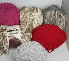 Big Lot Of Super Bulky Baby Blanket Yarn In Many Colors