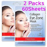 Purederm 2 Packs 60Sheets Collagen Eye Mask Patch Anti Aging Wrinkle Dark Circle