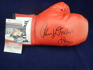 Thomas Hearns Signed Auto Everlast Boxing Glove W/ HIT MAN JSA - WIT503790