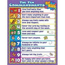 The Ten Commandments for Kids Chart Carson Dellosa CD-6359