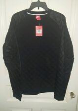 Nike Mens Winterized Quilted Sweatshirt Crewneck Black Size Large 678946 010