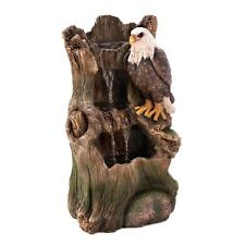 Stunning, Majestic American Bald Eagle Strength Indoor & Outdoor Water Fountain