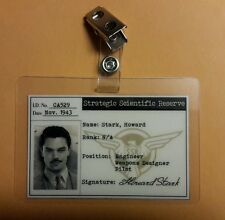 Captain America/Agent Carter/Ironman ID Badge -Howard Stark cosplay prop costume