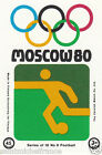 FOOTBALL SPORT MOSCOU Moscow Olympic GAMES MATCHBOX LABEL 1980