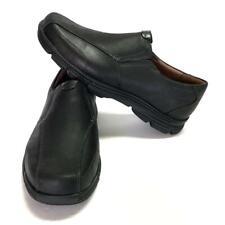 Dunham RevSaber Mens 9.5 EE 43 Casual Loafer Shoes Black Leather Slip On