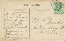 Mrs C H Bradshaw. 62 Great Western Road, St Helier. 1914 Jersey    JE.1458