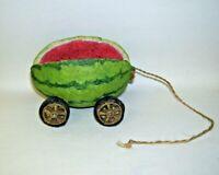 Primitive Folk Art Water Melon Pull Toy Decor