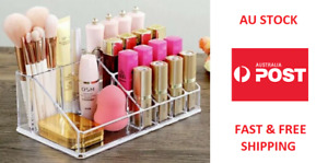 Acrylic Makeup Organiser Cosmetic Storage Brush Holder Lipstick Holder AU STOCK