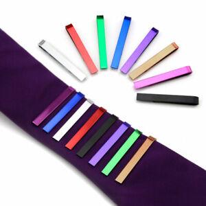 Men's 4cm Tie Necktie Pin Clip Bar Stainless Steel Clasp Shirt Clamp Wedding