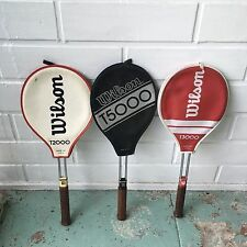 3 VTG Tennis Racquet Wilson T2000 / T3000 / T5000 in great condition with covers