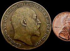 S895: 1902-10 Edward VII Penny - UNIFACE!!